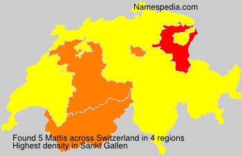 Surname Mattis in Switzerland