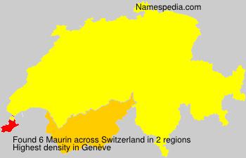 Surname Maurin in Switzerland
