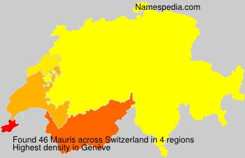 Surname Mauris in Switzerland