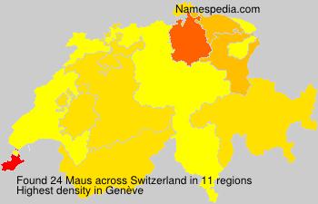 Surname Maus in Switzerland