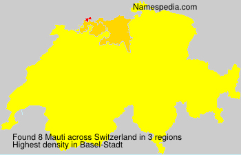 Surname Mauti in Switzerland