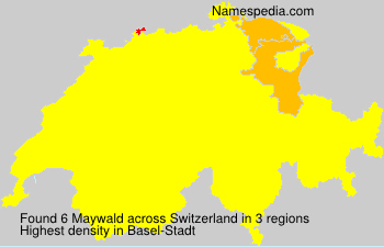 Surname Maywald in Switzerland