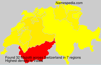Surname Mazotti in Switzerland