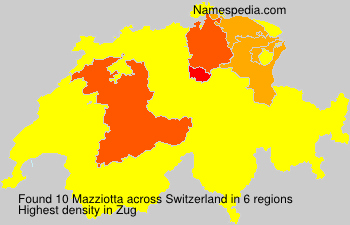 Surname Mazziotta in Switzerland