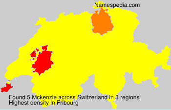 Surname Mckenzie in Switzerland