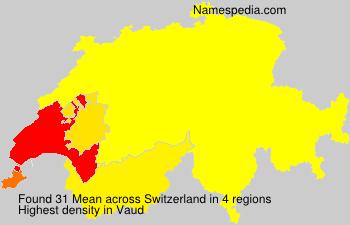 Familiennamen Mean - Switzerland