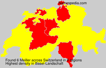 Surname Meiller in Switzerland