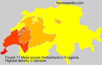 Surname Mejia in Switzerland