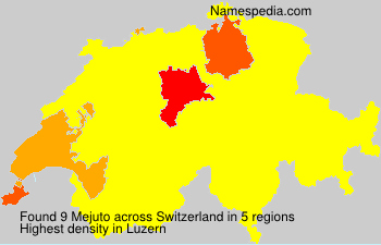 Surname Mejuto in Switzerland