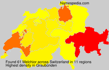 Surname Melchior in Switzerland