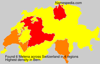 Surname Melena in Switzerland