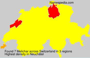 Surname Melichar in Switzerland