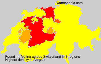 Surname Melina in Switzerland