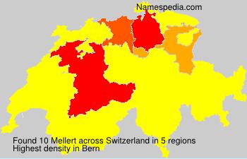 Surname Mellert in Switzerland