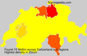 Familiennamen Mellini - Switzerland