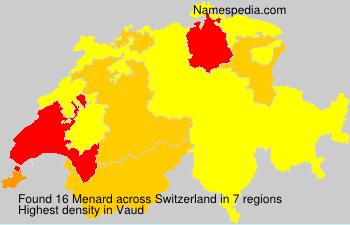 Surname Menard in Switzerland