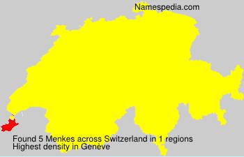Surname Menkes in Switzerland