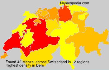 Surname Menzel in Switzerland