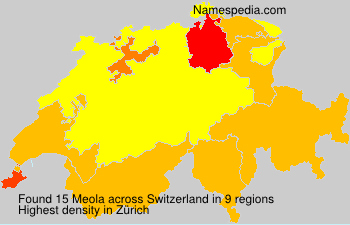 Surname Meola in Switzerland