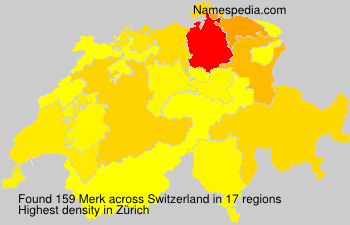 Surname Merk in Switzerland