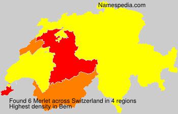 Familiennamen Merlet - Switzerland