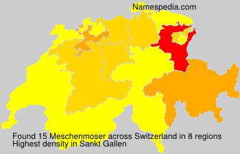 Familiennamen Meschenmoser - Switzerland