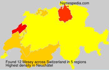 Familiennamen Mesey - Switzerland