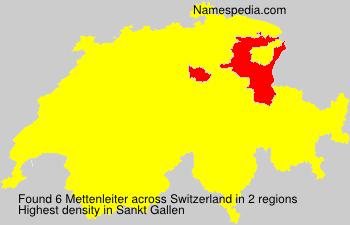 Surname Mettenleiter in Switzerland