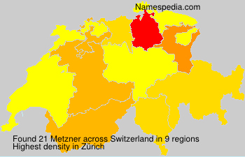 Surname Metzner in Switzerland