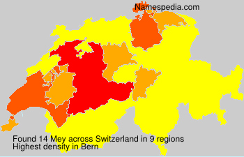 Surname Mey in Switzerland