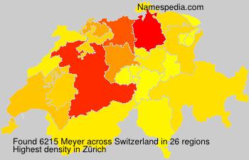 Surname Meyer in Switzerland