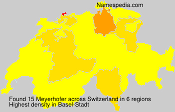 Surname Meyerhofer in Switzerland