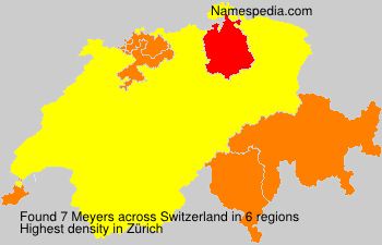 Surname Meyers in Switzerland