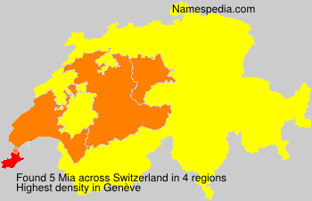 Surname Mia in Switzerland