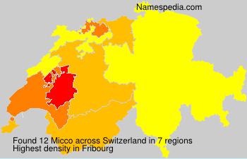 Familiennamen Micco - Switzerland