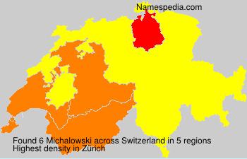 Familiennamen Michalowski - Switzerland