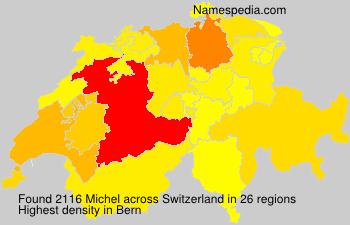 Surname Michel in Switzerland
