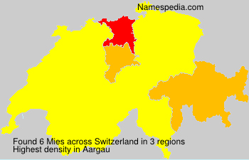 Surname Mies in Switzerland