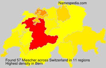 Surname Miescher in Switzerland