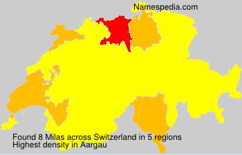 Surname Milas in Switzerland