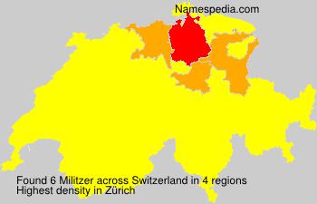 Familiennamen Militzer - Switzerland