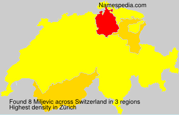 Surname Miljevic in Switzerland