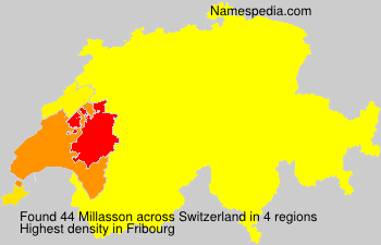 Surname Millasson in Switzerland
