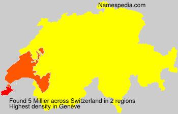 Surname Millier in Switzerland