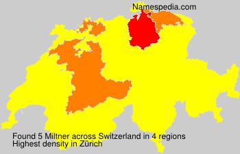 Surname Miltner in Switzerland
