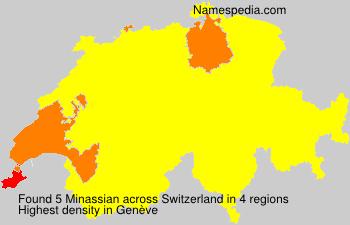 Surname Minassian in Switzerland