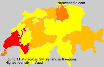 Surname Mir in Switzerland