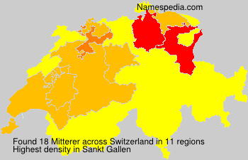 Surname Mitterer in Switzerland