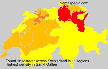 Surname Mitterer in Switzerland