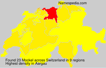 Surname Mockel in Switzerland